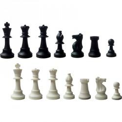 Sakk készlet fekete-fehér szilikon Játék
