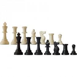 Sakk készlet fekete-fehér műanyag pamut tartózsákkal Játék
