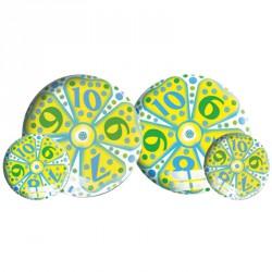 Gumilabda Virágos, számos 23 cm Sportszer Mese labda