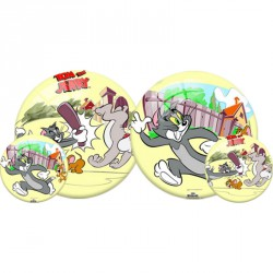 Gumilabda Tom és Jerry 23 cm sárga Sportszer Mese labda