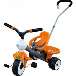 Szülőkaros tricikli narancssárga Lábbal hajtható járművek Polesie