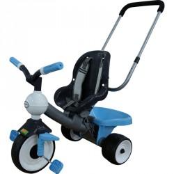 Szülőkaros tricikli kék Lábbal hajtható járművek Polesie