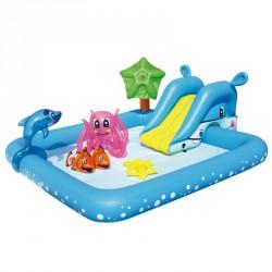 Gyermek játszómedence Bestway akvárium csúszdával Medence Bestway