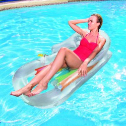 Designer fotelmatrac Bestway ezüst-narancs Sportszer Bestway