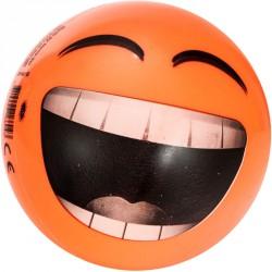 Gumilabda Smiley 14 cm narancssárga Sportszer Mese labda